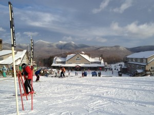 Skiing at Waterville Valley Ski Resort on New Year's