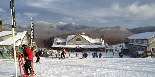 Skiing at Waterville Valley Ski Resort on New Year&#039;s